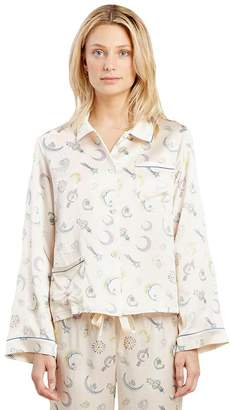 Morgan LANE Ruthie Moon Jewels Silk PJ Top
