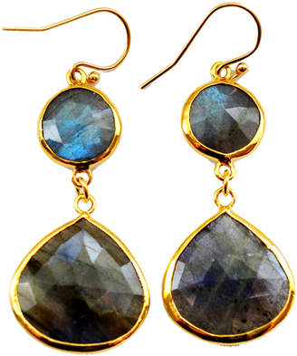 Isabella Collection Tropea Gemstone Double Drop Earrings
