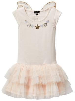 Zunie Drop Waist Dress With Star Butterfly Wings (Little Girls)