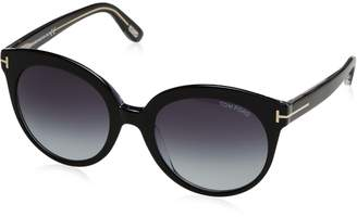 Tom Ford Women's Monica TF429 TF/429 03W Black/Pale Gold Fashion Sunglasses 54mm