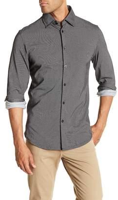 Stone Rose Micro Dot Print Slim Fit Shirt