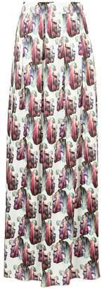 Ingie Paris leaf print maxi skirt