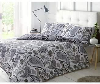 At Argos Pieridae Black And Grey Paisley Bedding Set Double