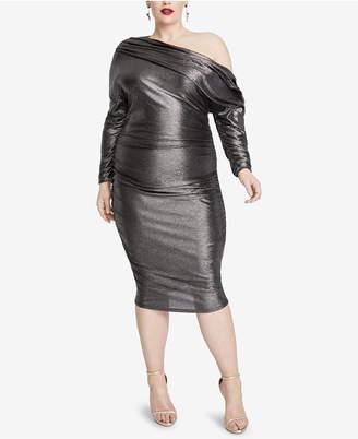 Rachel Roy Plus Size Metallic One-Shoulder Dress