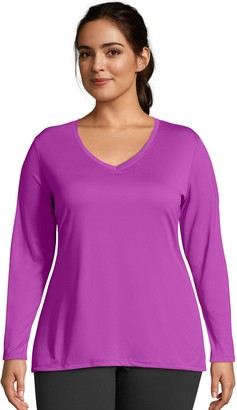 Just My Size Plus Size Cool Dri Performance Long Sleeve Top