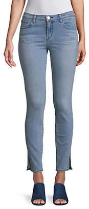 J Brand Side Slit Mid Rise Skinny Jeans