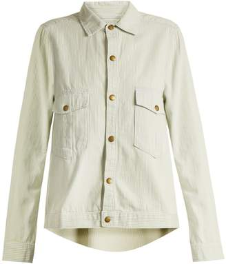 The Great The Shirt striped cotton jacket