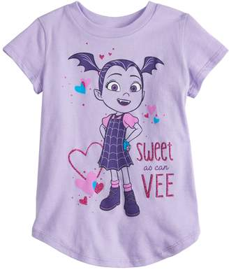 """Disney's Vampirina Toddler Girl """"Sweet As Can Vee"""" Graphic Tee by Jumping Beans"""