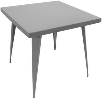 Lumisource Austin Industrial Dining Table in Matte Grey