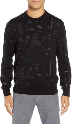 BOSS x Jeremyville Lovelli Regular Fit Crewneck Sweater