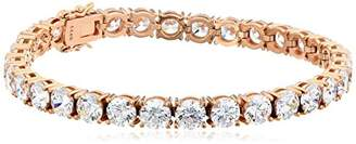 Swarovski Women's Yellow Gold Plated Sterling Silver Zirconia Round Shape Tennis Bracelet