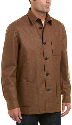 David Donahue Wool & Cashmere Shirt Jacket