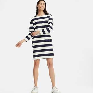 Uniqlo Women's Wide Striped Long-sleeve Dress