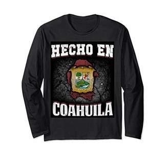 Viva Mexico Long Sleeve Shirt Hecho En Coahulia Mexican Flag