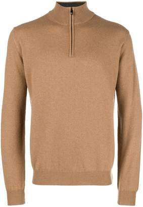 Corneliani front-zip fitted sweater