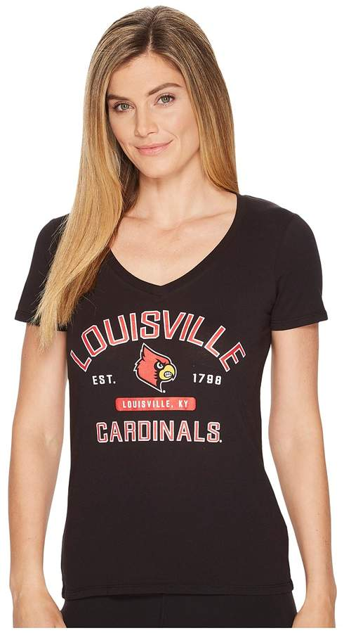 Champion College Louisville Cardinals University V-Neck Tee Women's T Shirt