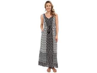 Lucky Brand Woodblock Mixed Dress Women's Dress