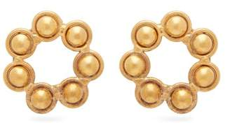 Sylvia Toledano - Open Circle 24kt Gold Plated Earrings - Womens - Gold