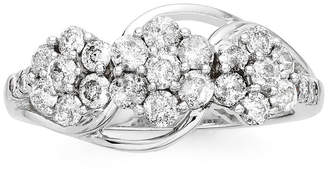 JCPenney FINE JEWELRY diamond blossom 1 CT. T.W. Diamond 3-blossom Ring