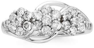 JCPenney FINE JEWELRY diamond blossom 1 CT. T.W. Diamond 3-blossom Ring