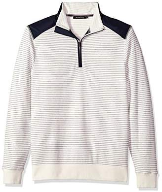 Bugatchi Men's Long Sleeve Half Zip Mock Pullover