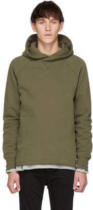 Levi's Levis Made And Crafted Levis Made and Crafted Green Unhemmed Hoodie