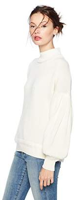 Cable Stitch Women's Pleated-Sleeve Sweater