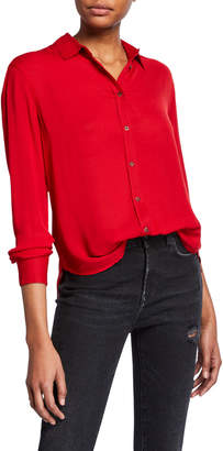 The Kooples High-Low Button-Down Boyfriend Shirt