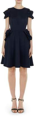 Ted Baker Deneese Ruffled Cold-Shoulder Dress