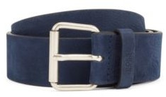 BOSS Roller-buckle belt in Italian nubuck leather