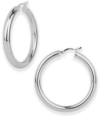 Argento Vivo Sterling Silver Tube Hoop Earrings $98 thestylecure.com