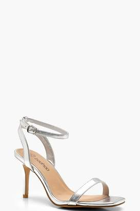 boohoo Wide Fit Square Toe Two Part Heels