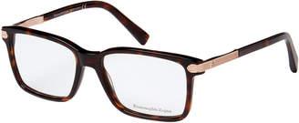 Ermenegildo Zegna EZ5009 Tortoiseshell-Look Rectangular Optical Frames