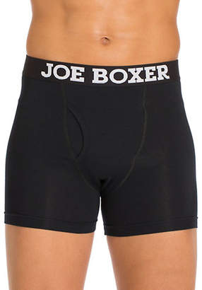 Joe Boxer Logo Three-Pack Cotton Boxer Briefs