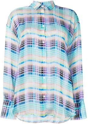 MSGM oversize check shirt