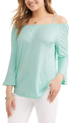 No Boundaries Juniors' Cold Shoulder Bell Sleeve Tunic
