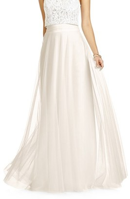 Women's Dessy Collection Full Length Tulle Skirt $158 thestylecure.com