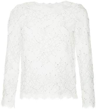 Huishan Zhang lace embroidered blouse