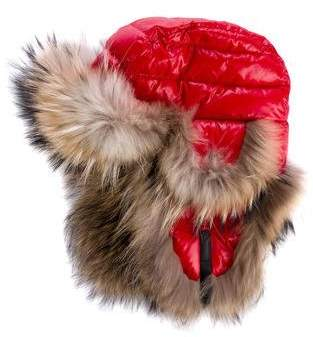 Moncler Fur-Trimmed Trapper Hat