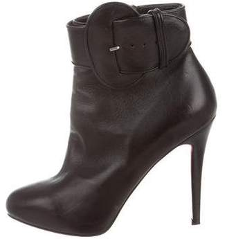 44f3f7169362 Christian Louboutin Black Covered Heel Boots For Women - ShopStyle ...