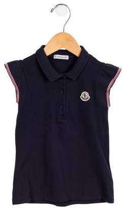 Moncler Girls' Collared Short Sleeve Top