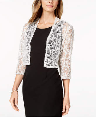R & M Richards Lace Shrug Cardigan