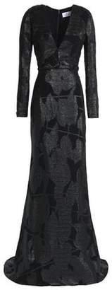 J. Mendel J.mendel Metallic Silk Devoré-Velvet Gown