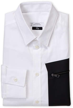 Versace Black & White City Fit Dress Shirt
