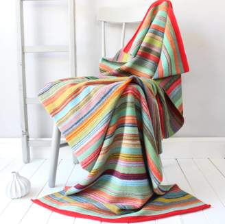 Gabrielle Vary Knitwear Bombay Striped Knitted Lambswool Throw