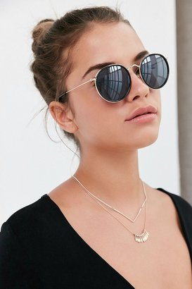 Urban Outfitters Charlie Metal Round Sunglasses $16 thestylecure.com
