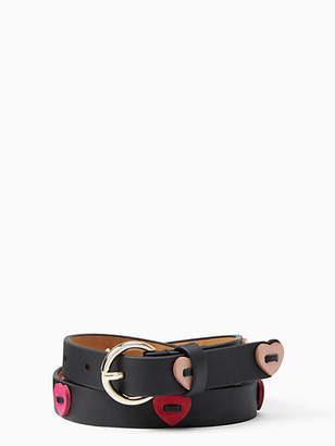 "Kate Spade 3/4"" Leather Heart Belt"