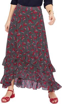 Boden Coraline Tiered Ruffle Maxi Skirt