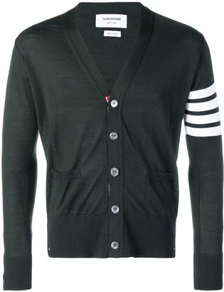 Thom Browne Fine Merino Wool V-neck Cardigan