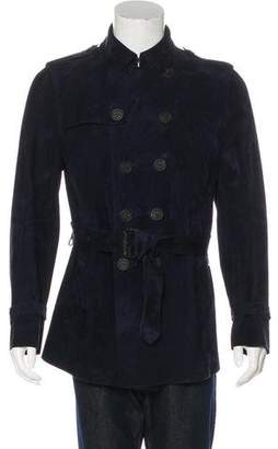 Burberry Suede Belted Jacket